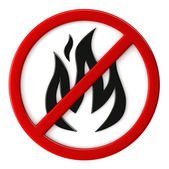 Fire not allowed — Stock Photo