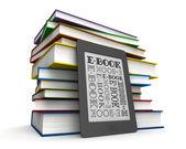 Books and e-book — Stock Photo