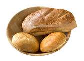 Bread rolls and loaf — Stock Photo