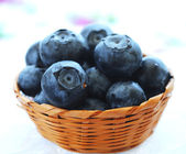 Ripe blueberries in a bowl. — Stock Photo
