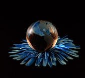 Glass, Paperweight,globe. — Stock fotografie