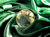 Glass, Paperweight,globe. — Foto Stock