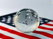 America, flag, ball, globe. — Stock Photo
