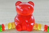 Giant gummy bear. — Stock Photo