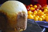 Homemade bread in the bread maker. — Stock Photo