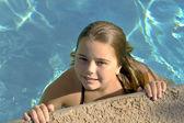 Girl in the pool. — Stock Photo