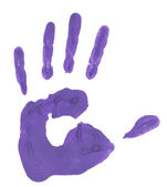 Blue handprint — Stock Photo
