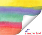 Abstract watercolor color natural canvas background — Stock Photo