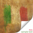Vintage Flag of Italy watercolor canvas postcard — Stock Photo