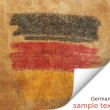 Flag of Germany vintage retro style natural canvas background — Stock Photo