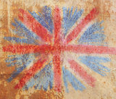 Flag of England vintage abstract rusty colored background postcard — Stock Photo