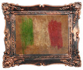 Flag of Italy vintage retro style natural canvas background — Stock Photo