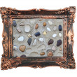Royalty-Free Stock Photo: Vintage frame rocks sea eco background