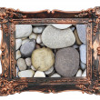 Vintage frame rocks sea eco background - Stock Photo