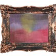 Abstract watercolor color natural canvas background vintage photo frame — Stock Photo #19886513