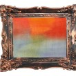 Abstract watercolor color natural canvas background vintage photo frame — Stock Photo #19886515
