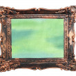 Abstract watercolor color natural canvas background vintage photo frame — Stock Photo #19886609