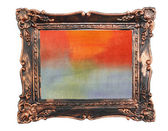 Abstract watercolor color natural canvas background vintage photo frame — Stock Photo
