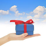 Gift boxes with bow — Stock Photo
