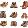 Collection of leather shoes for men and women — Stock Photo #22482237