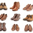 Collection of leather shoes for men and women — Stock Photo #22482239