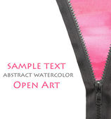 Zipper dress abstract watercolor color natural canvas background — Stock Photo