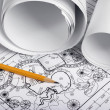 Rolls of drawings — Stock Photo