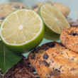 Cookies and lemon — Stock Photo