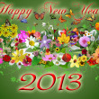 Stock Photo: Happy New Year 2013 illustration
