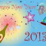 Happy New Year 2013 illustration — Stock Photo