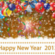 Happy New Year 2013 illustration — Stock Photo
