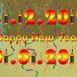 2013 Happy New Year greeting card — 图库照片