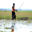 Fisherman - Lake Anapa - Uganda, Africa — Stock Photo