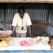 Meat at the Market in Kabermaido - Uganda — Stock Photo