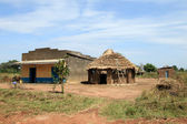 African Huts - Uganda, Africa — Stock Photo