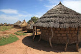 Aketa camp by, uganda, afrika — Stockfoto
