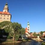 Vltava River - Cesky Krumlov, Czech Republic — Stock Photo #12340762