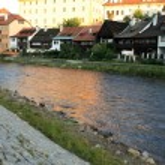 Vltava River - Cesky Krumlov, Czech Republic — Stock Photo #12340773