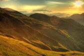 Alba di paesaggio di montagna — Foto Stock