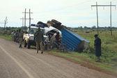 Accidente en la carretera — Foto de Stock