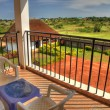Luxury Hotel Room Balcony, Uganda, Africa — Foto Stock