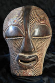 African Tribal Mask - Songe Tribe — Stok fotoğraf