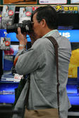 Man Taking Photo - Osaka City in Japan, Asia — Stock Photo