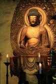 God standbeeld - zojoji schrijn, tokyo, japan — Stockfoto