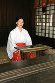Traditionele japanse vrouw - meiji shrine, tokyo, japan — Stockfoto