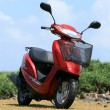 Stock Photo: Red Scooter