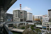 небо поезд - города наха, окинава, япония — Стоковое фото