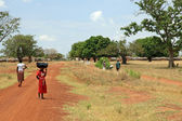 Dirt Road - Uganda, Africa — Stock Photo
