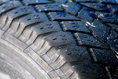 坚固耐用的黑色轮胎-轮胎为多用途使用 — 图库照片