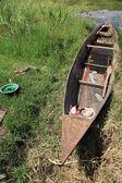 ボートと釣り村 - ウガンダ、アフリカ — ストック写真